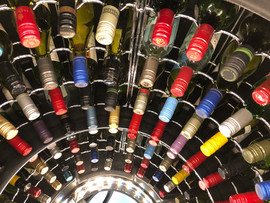 Mark 2 Wine Cellar Pod holds 112 bottles in its chrome racking system.