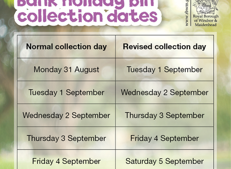 RBWM Bank Holiday Bin Collections