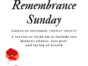 CANCELLED - Remembrance Sunday at St. Peter's Knowl Hill