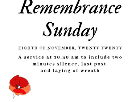 Remembrance Sunday at St. Peter's Knowl Hill