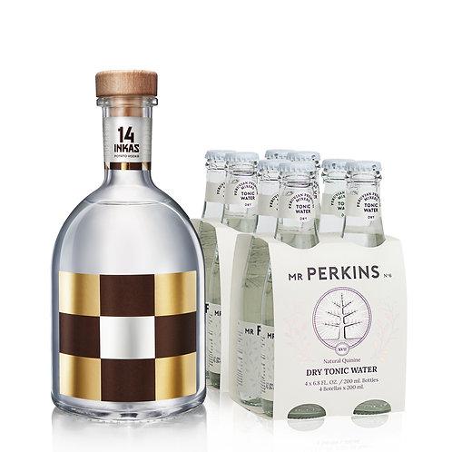 Botella 14 Inkas 750ml + 2 Four Pack Tónica Dry