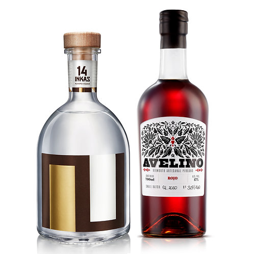 Vodka 14 Inkas 750ml + Avelino Vermouth Rojo  700ml