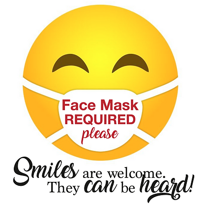 Face Mask Required - Window Cling