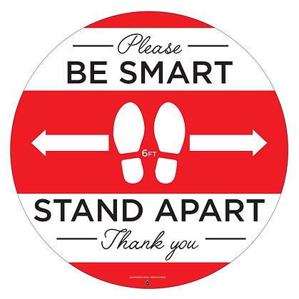 Please Be Smart - Distance Decals