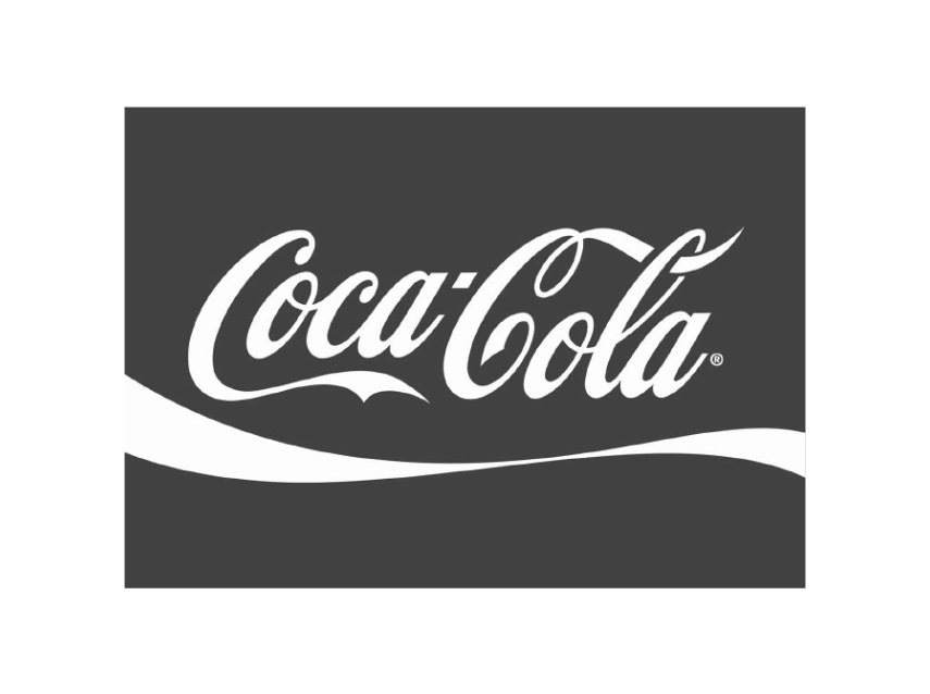 coca cola b and w transparent