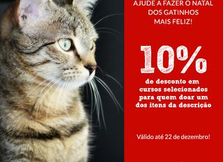 Ajude o abrigo de animais e ganhe 10% de desconto!
