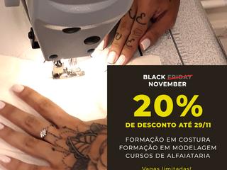 BLACK FRIDAY 2019 - Alfaiataria, Formação em Costura, Formação em Modelagem!