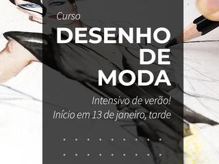 Intensivo de Desenho de Moda em Janeiro na CoutureLab Porto Alegre!