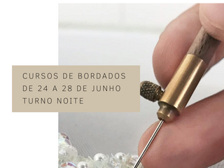 Intensivos de Bordados em JUNHO na CoutureLab Porto Alegre!