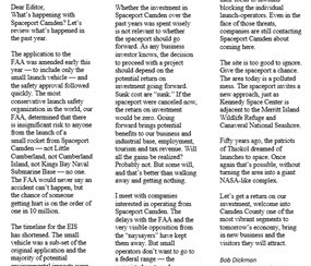 Rebuttal: General Dickman Letter to the Editor