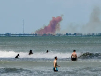 SpaceX Toxic Red Cloud