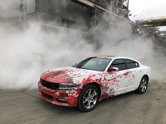 Dodge Charger Splatter Wrap