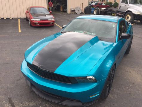 Ford Mustang Wrap - Atomic Teal