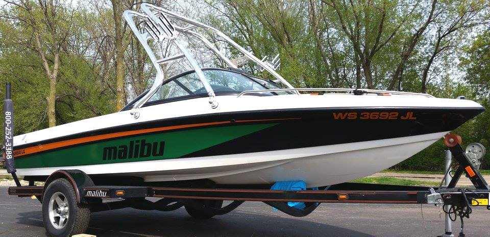 Custom Boat Graphics - Malibu Skier