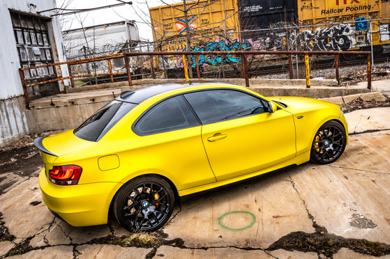 BMW 1-Series Wrap - Satin Bitter Yellow