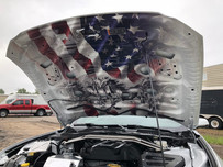 Ford Mustang Hood Interior Wrap