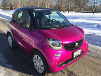 Smart Car Wrap - Fierce Fuschia