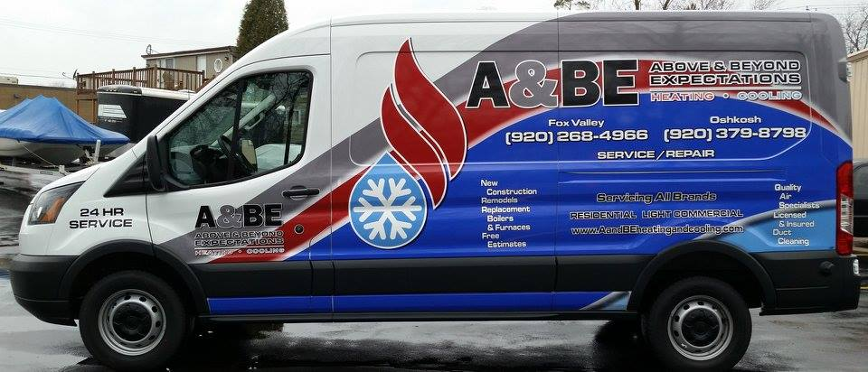 Company Vehicle Wrap - A&BE Heating