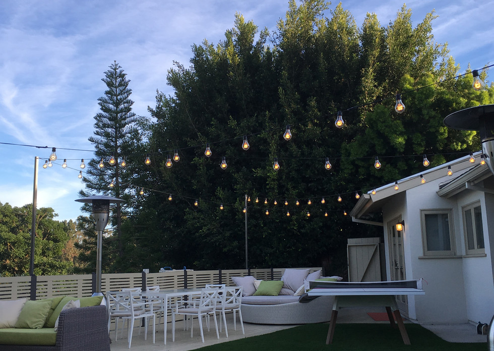 Permanent bistro lights