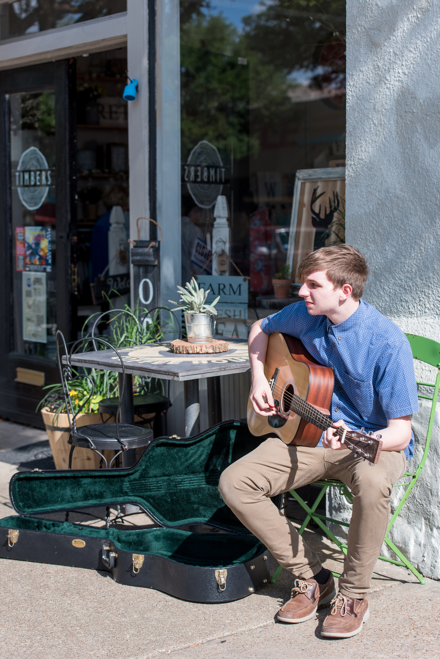 Corsicana-183 - Musician Ben (Buffalo Kid) at Timbers