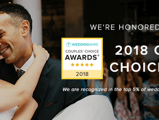 We won the Wedding Wire 2018 Couples Choice Awards!
