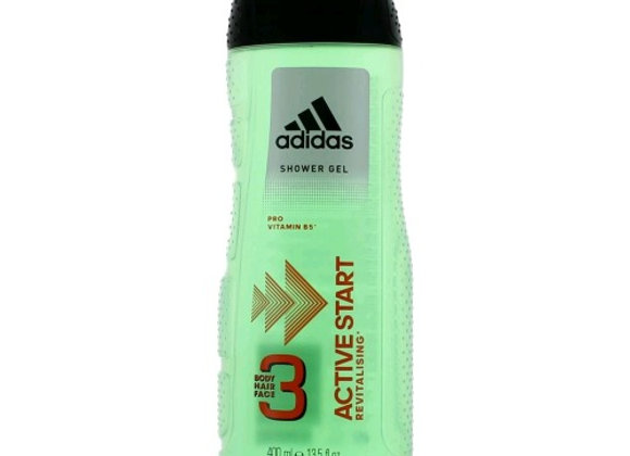 Adidas Shower Gel 400ml Active Start 3in1 Body and Hair and Face