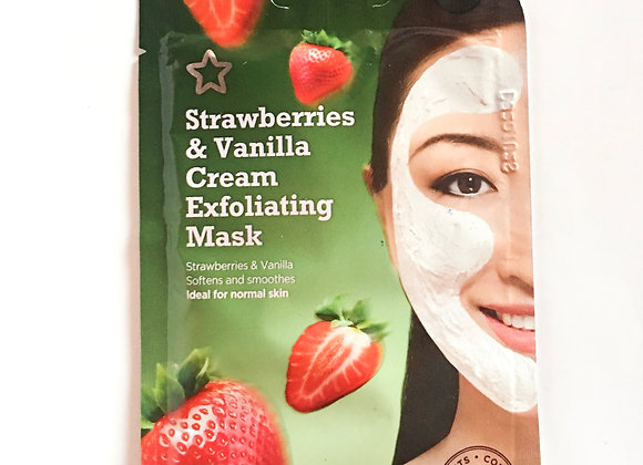 Strawberries & Vanilla Cream Exfoliating Mask