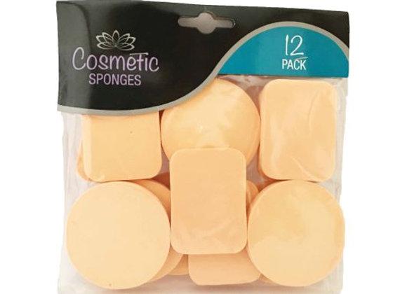 12 Cosmetic Sponges Pack