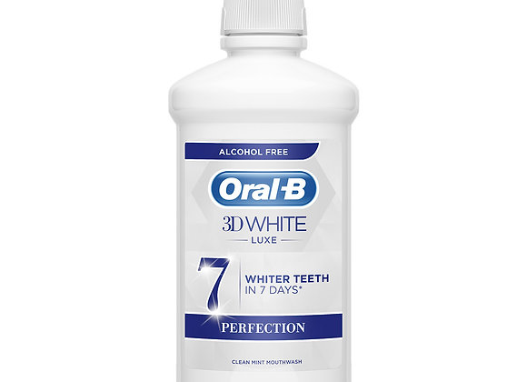 Oral-B 3D White Luxe Perfection Mouthwash, 500ml