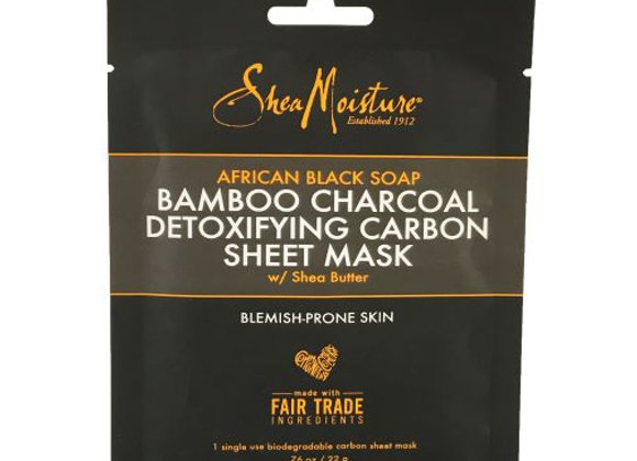 African Black Soap Bamboo Charcoal Detoxifying Sheet Mask