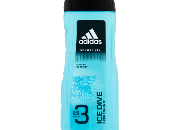 Adidas Ice Dive 3-in-1 Body, Hair and Face Shower Gel 250ml
