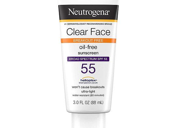 Neutrogena Clear Face Liquid Lotion Sunscreen For Acne-Prone Skin, Broad Spectru