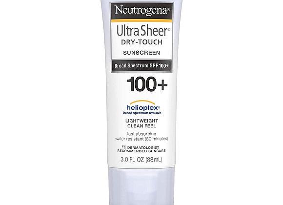 Neutrogena, Ultra Sheer Sunscreen Dry-Touch, SPF 100+