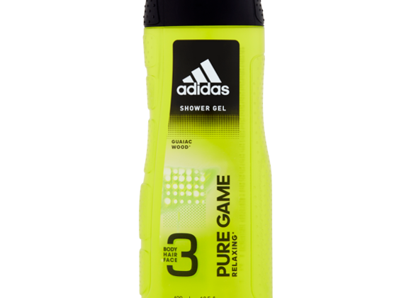 Adidas Pure Game 3 Shower Gel for Body, Hair & Face 400ml