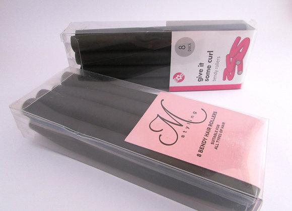 8Pack Soft Bendy Twist Hair Hairdressing Rollers Curlers Eva Foam