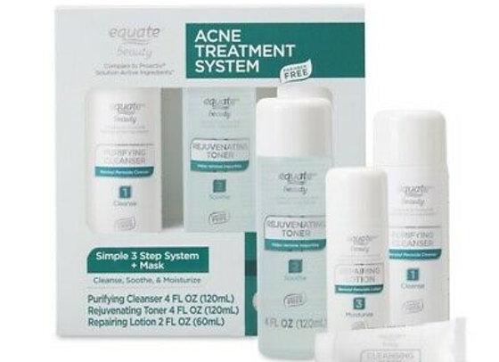 Equate Beauty Acne Treatment Regimen Set with Benzoyl Peroxide