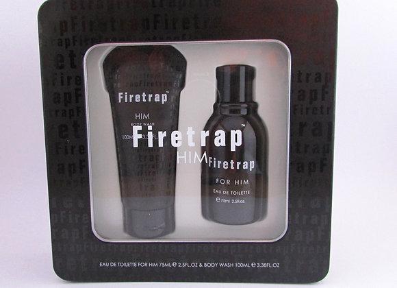 Firetrap For Him Gift Set 75ml EDT Spray + 100ml Body Wash - For Him