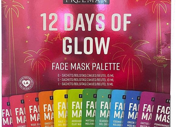 Freeman 12 Days of Glow Mini Mask Advent Calendar Gift Set