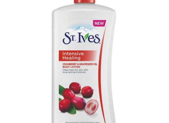 St. Ives Intensive Healing Body Lotion, Cranberry and Grapeseed Body Lotion
