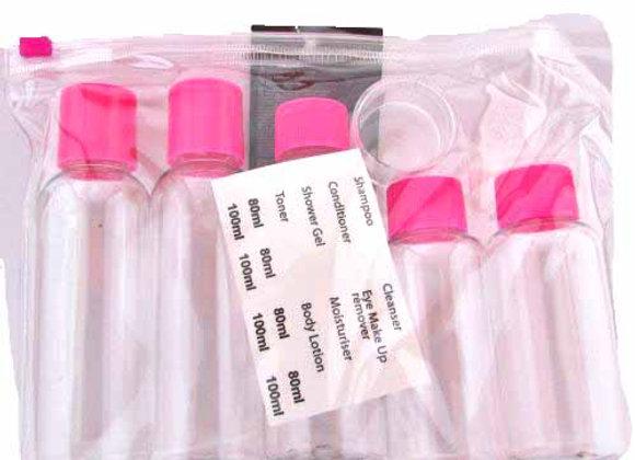 Travel Bottle Set (5 bottles)