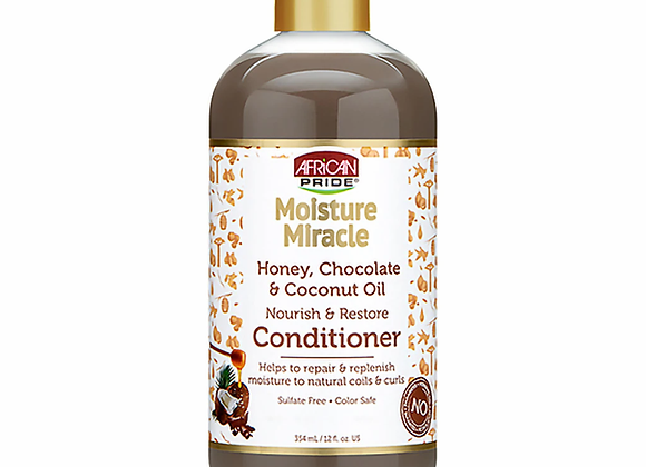 African Pride Moisture Miracle Honey, Chocolate & Coconut Oil Conditioner 354ml