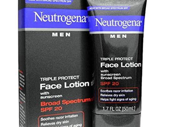 Neutrogena Men Triple Protect Face Lotion Broad Spectrum SPF 20 50ml