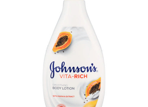 Johnson's Vita Rich Smoothing Body Lotion with Papaya Extract