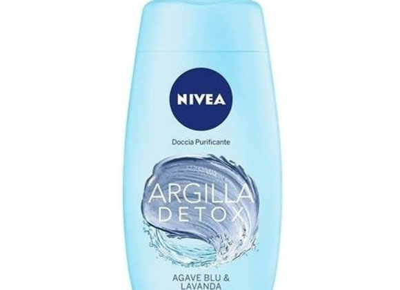 Nivea Clay Detox Purifying Shower Blue Agave & Lavender 250ml
