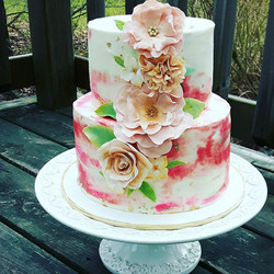 Watercolour Buttercream Cake