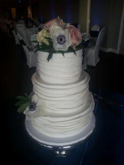 Fondant Ribbon Wedding Cake