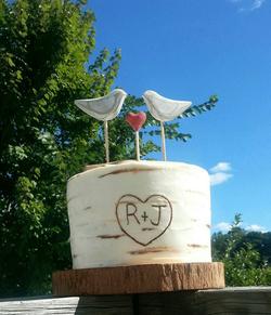 Buttercream Kissing Tree Cak