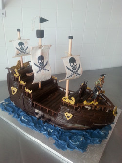 Pirate Ship Wedding Cake