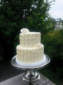 Two tiered buttercream cake