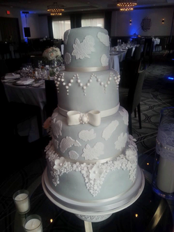 Glamour and Lace Cake